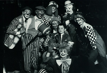 Dan with clowns